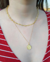 Load image into Gallery viewer, Gold Filled Dainty Chain Coin Necklace