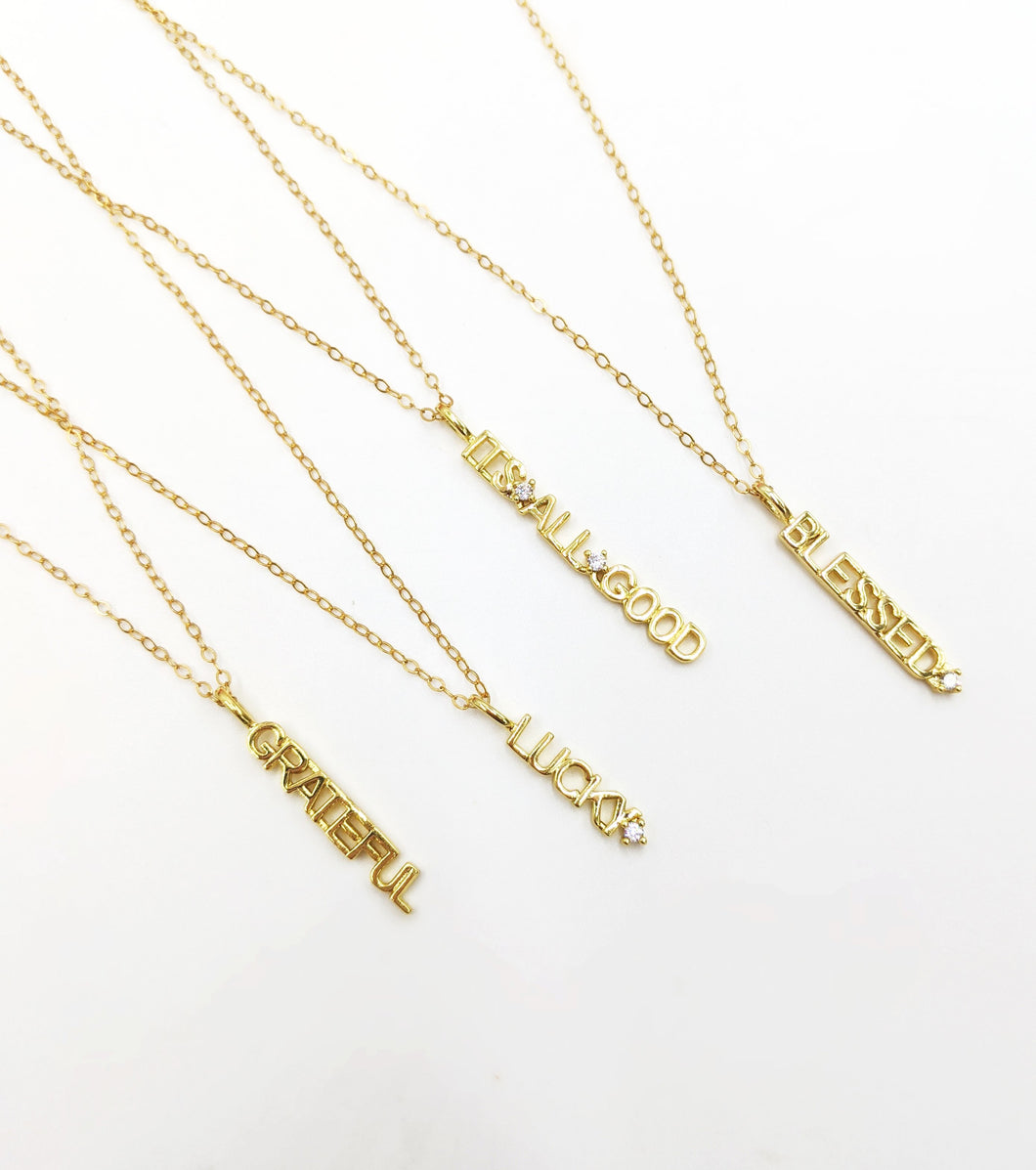Dainty Word Necklace