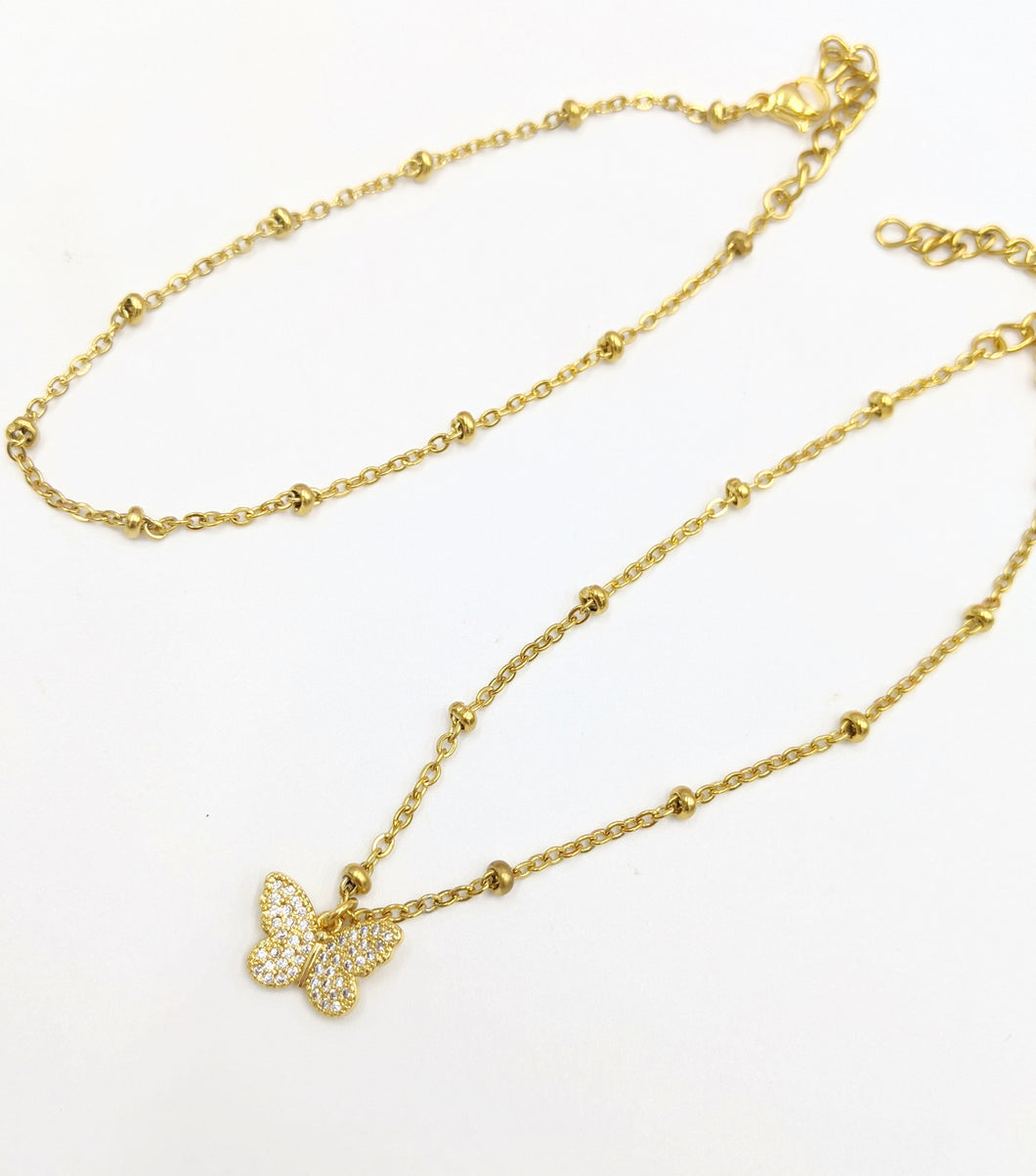 Gold Stainless Steel Anklet