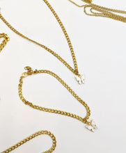 Load image into Gallery viewer, Dainty Gold Stainless Steel Cuban Link White Butterfly Choker