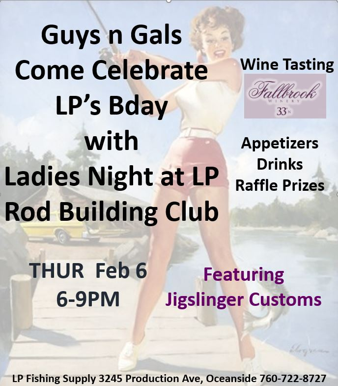Come Celebrate Ladies Night for our 8th Birthday Thursday, February 6th.
