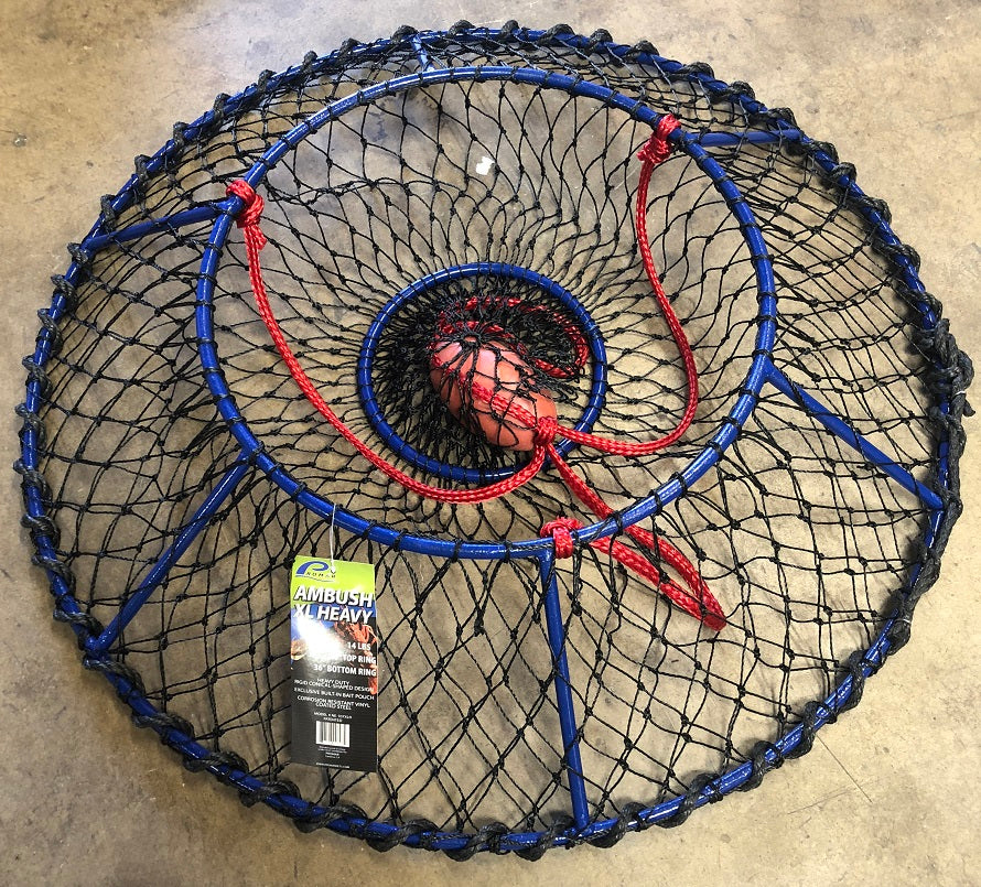 LP Fishing Supply has the new 2018 Promar Ambush XL Heavy Hoop Net. Also with Lobster Port Deck Guard
