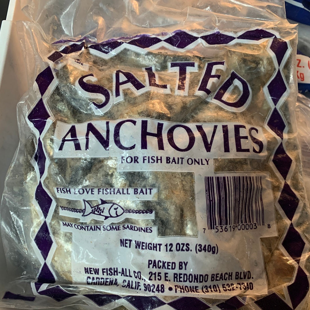 Frozen Salted Anchovies 12oz bag (In Store Pickup ONLY)