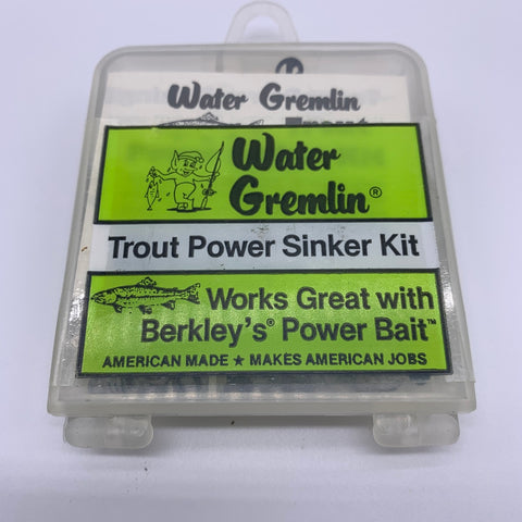 56 Piece Trout Sinker Assortment by Water Gremlin