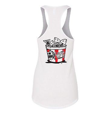 "KILLFISH CO. Women's Tank Top ""Bucket"" White"