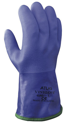 Atlas 490 PVC Cold Weather Blue Gloves