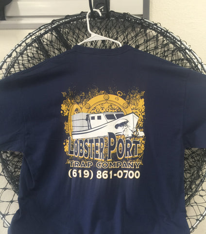 Lobster_Port_DkBlu_Old_School_logo_tshirt