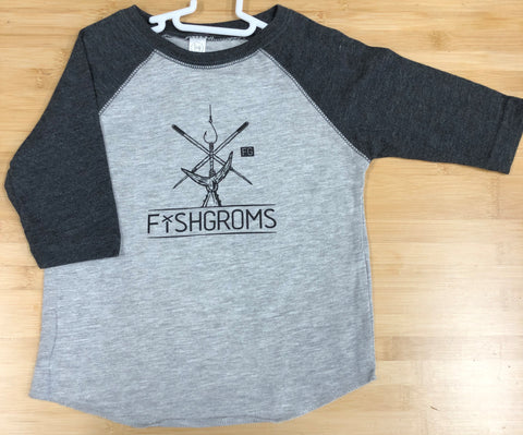 LP Fishing Supply Fishghroms Toddler 3/4 Sleeve Jersey