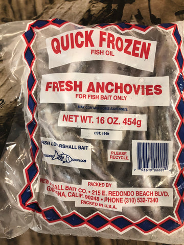 LP Fishing Supply frozen anchovies