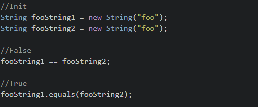 Comparing strings in Java