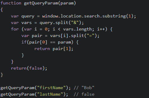 JavaScript - Getting query string values