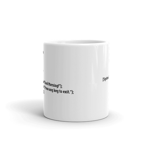 C# Good Morning Programmer Mug