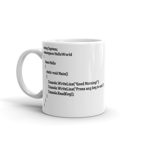 C# Good Morning Mug