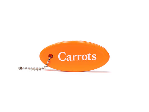 Carrots Wordmark Floating Keychain