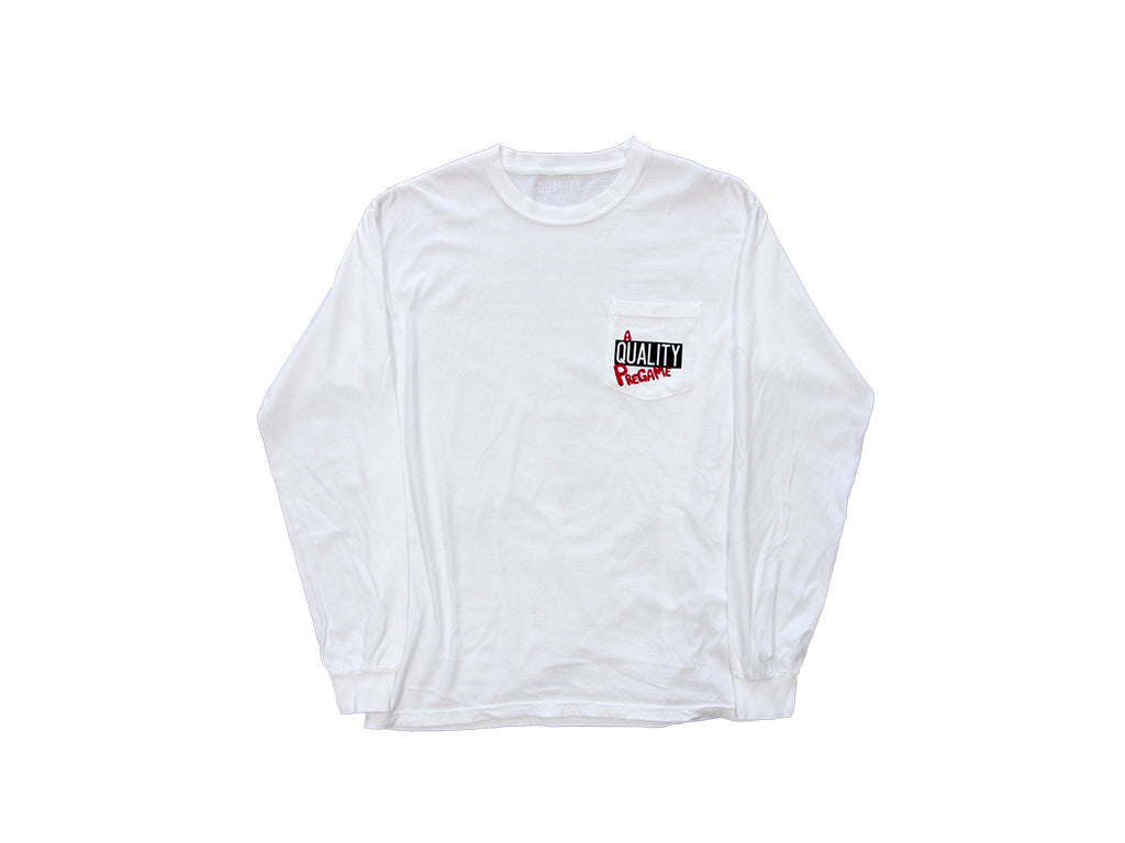 Quality X The PreGame Podcast LS Pocket Tee