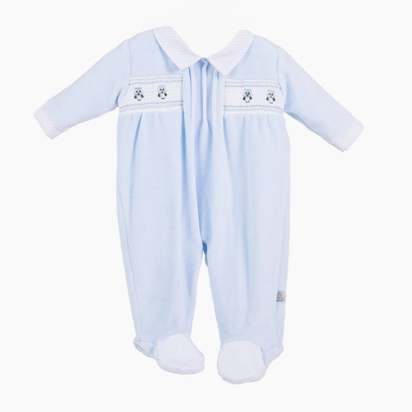 Little Owl Sleepsuit - Berry & Blossoms