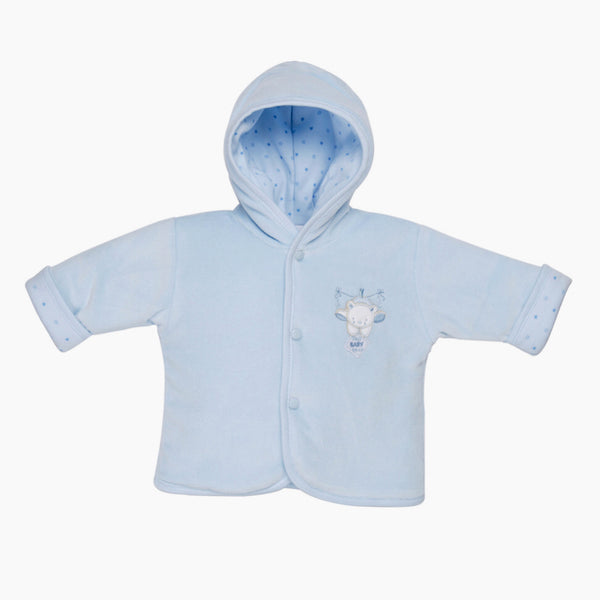 Baby Bear Velour Jacket - Blue - Berry & Blossoms
