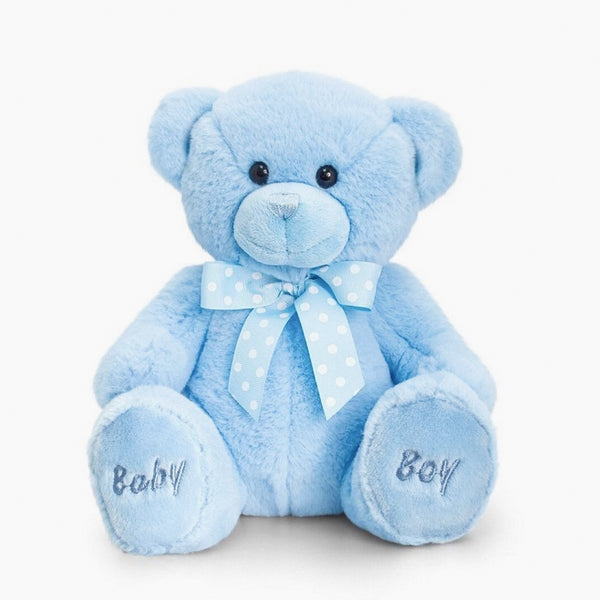 Baby Bear Soft Toy - Blue - Berry & Blossoms
