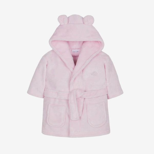 Soft Hooded Robe - Pink - Berry & Blossoms