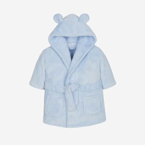 Soft Hooded Robe - Blue - Berry & Blossoms