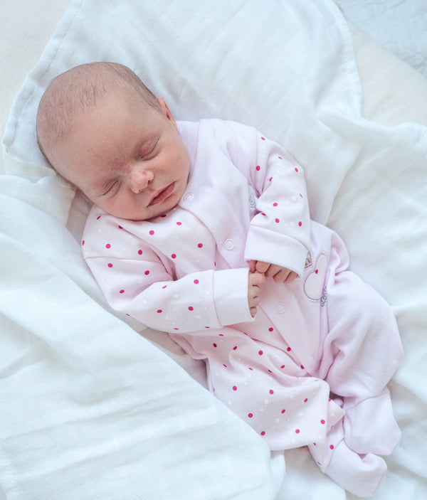 Triple Heart Babygrow - Pink - Berry & Blossoms