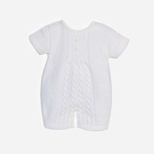 White Cable Knitted Romper - Berry & Blossoms