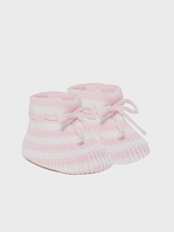 Striped Booties  - Pink - Berry & Blossoms