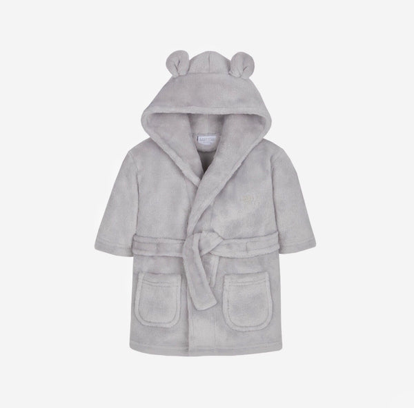 Soft Hooded Robe - Grey - Berry & Blossoms