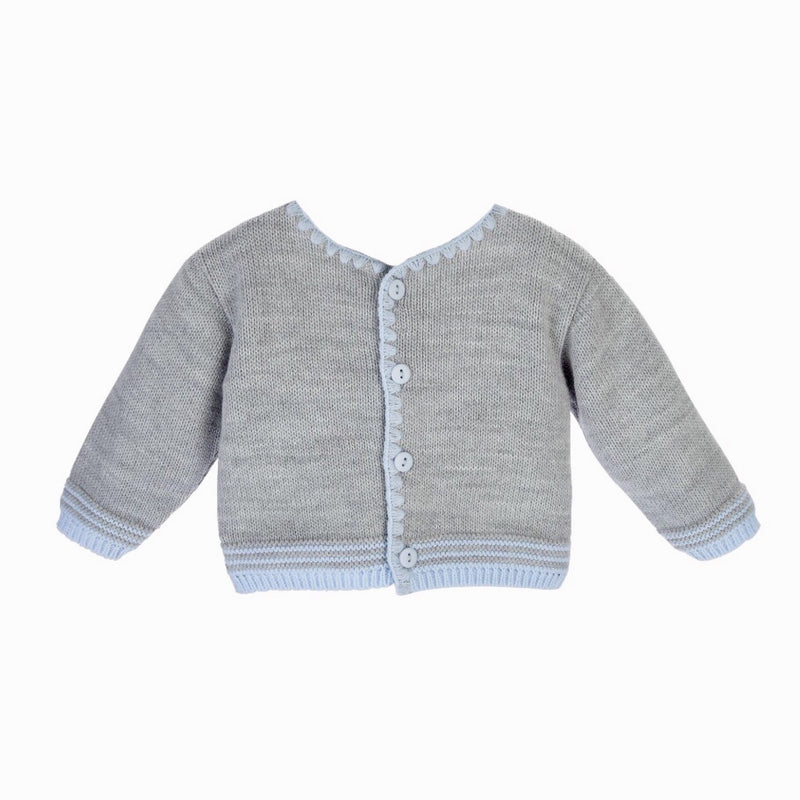 Boys Blue & Grey Knit Cardigan - Berry & Blossoms