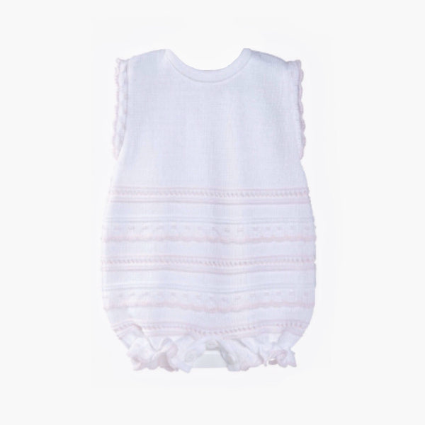 Baby Girls Pointelle Romper - Berry & Blossoms