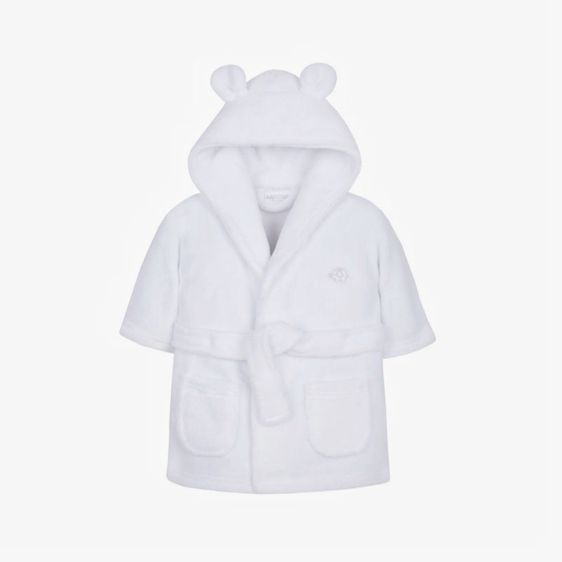Soft Hooded Robe - White - Berry & Blossoms