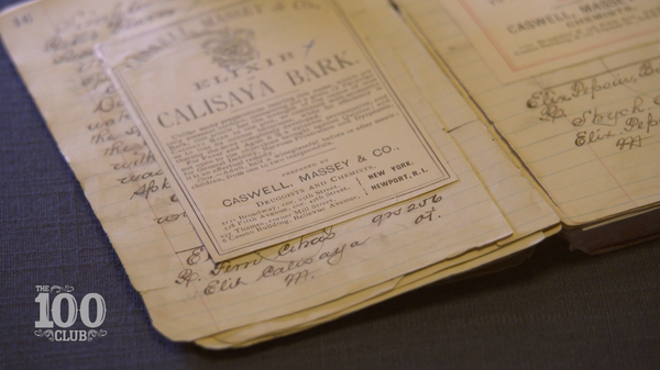 Archival Recipe notebook from Caswell-Massey