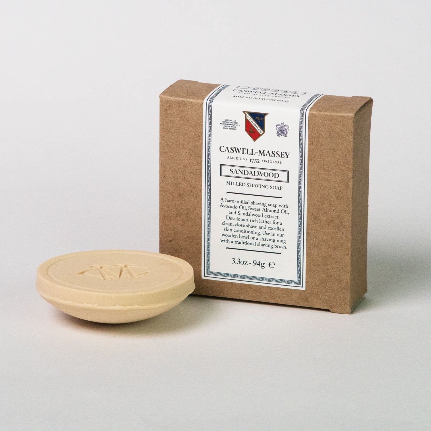Sandalwood Milled Shaving Soap