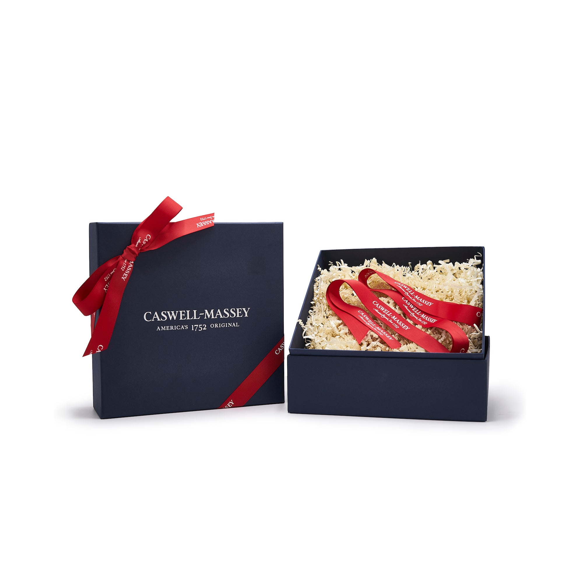 Caswell-Massey Gift Box with Crinkle and Ribbon