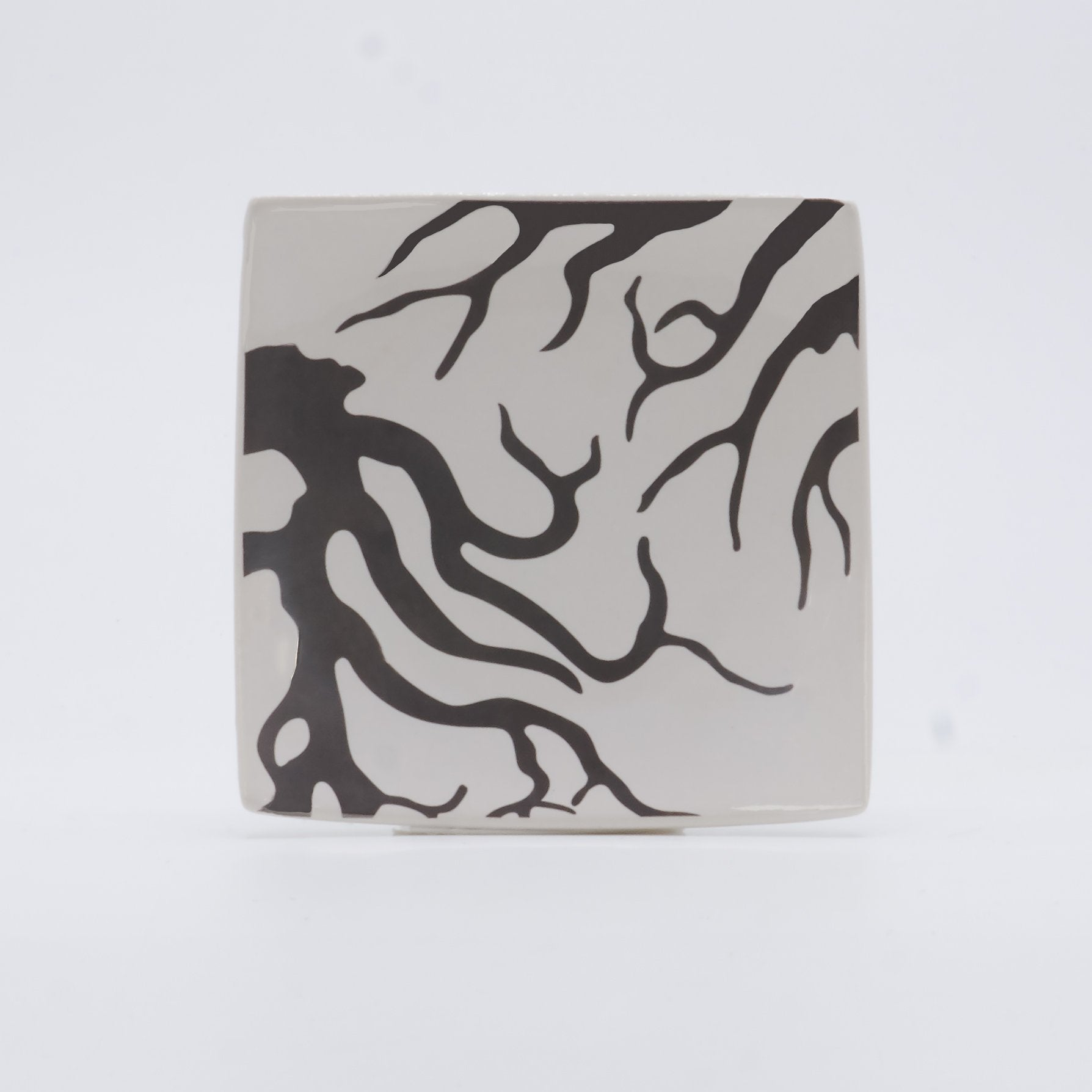 Silk Screened Coral Soap Dish