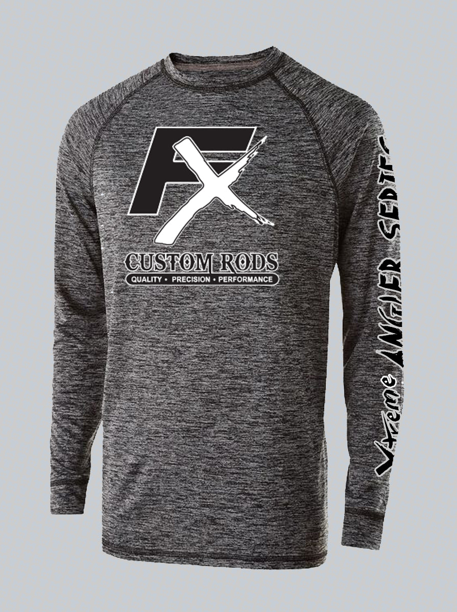 Premium Electrify 2.0 Long Sleeve Performance Heathered Shirts - Fish Xtreme