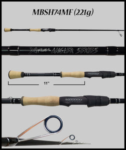 "MBSH74MF Gen 3 - 7'4"" Medium Fast Spinning Rod - Fish Xtreme"