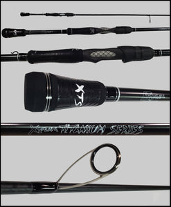 "WTISH74MF   7'4"" Medium Fast Spinning Rod  **TITANIUM SERIES** - Fish Xtreme"
