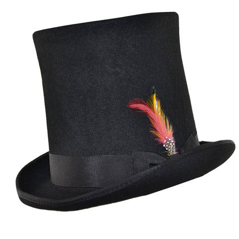 Maz Stove Pipe Wool Felt Victorian Top Hat