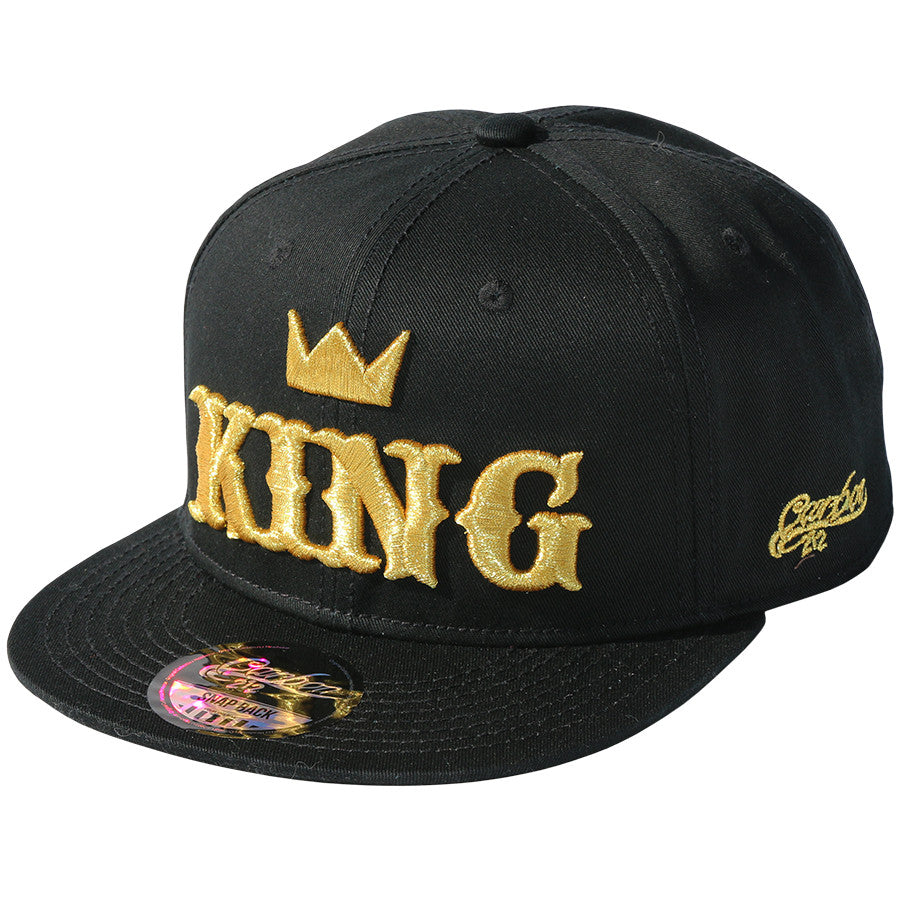 0651177d3f9 King Snapback Cap - Black Gold - For Kids – hats4u.eu