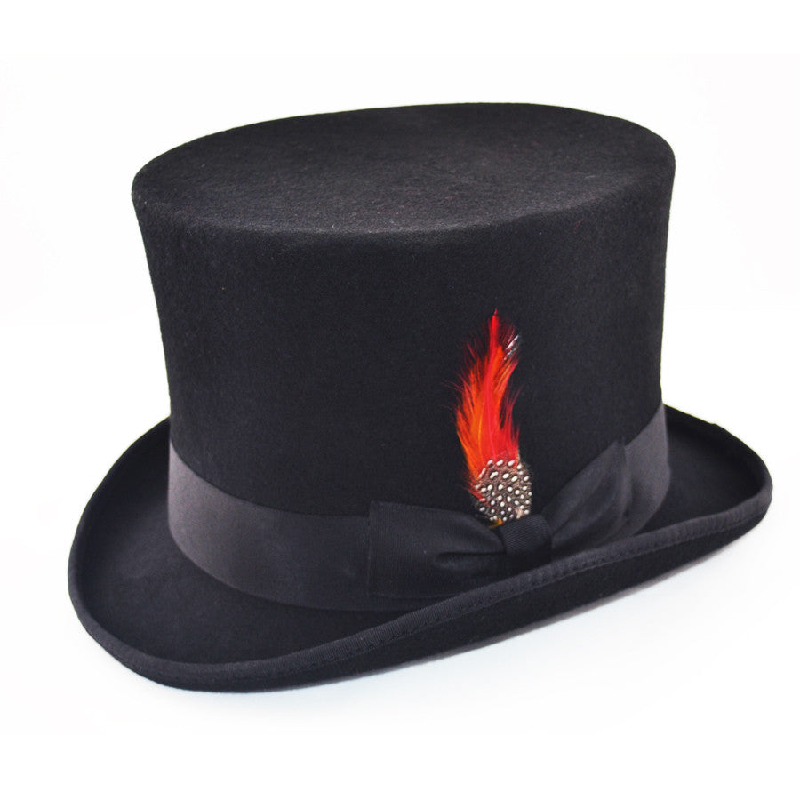 4e4d0fc1ec8 Maz Victorian Wool Felt Top Hat - Black – hats4u.eu