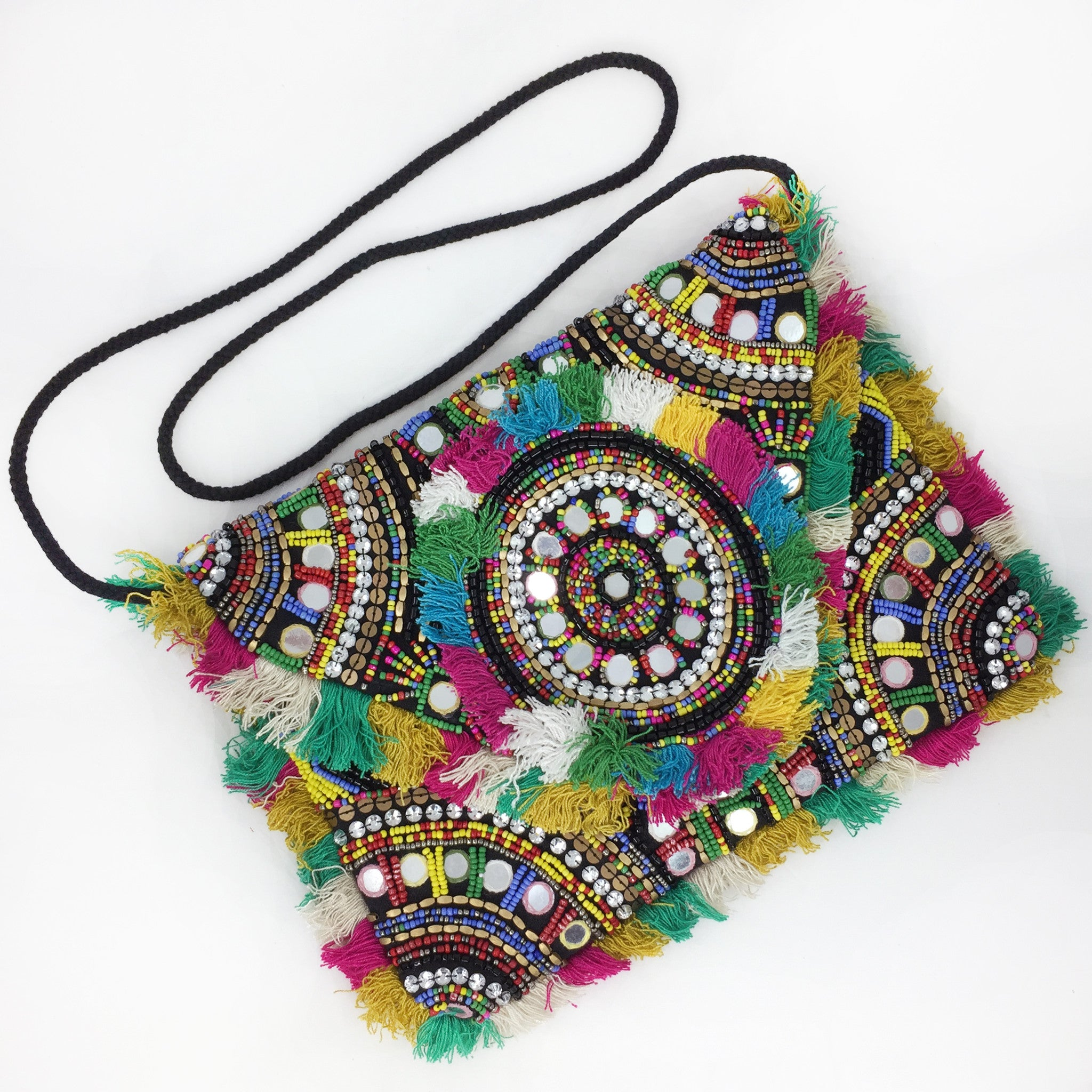 Desi Beaded Clutch - Black