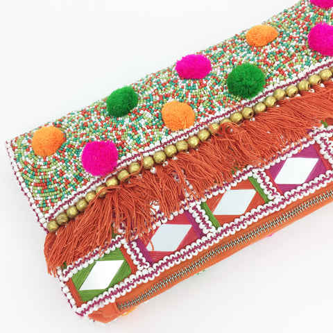 Beaded Clutch - Turquoise