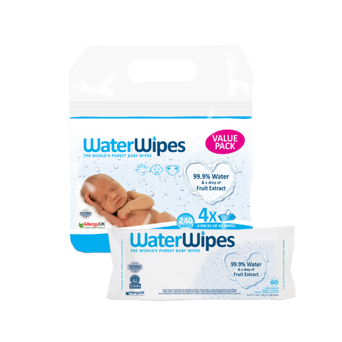 WaterWipes 4 Pack - Value Pack (240 Wipes)