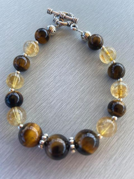 Citrine & Tiger Eye Bracelet