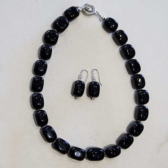 Black Onyx Necklace including Matching Earrings