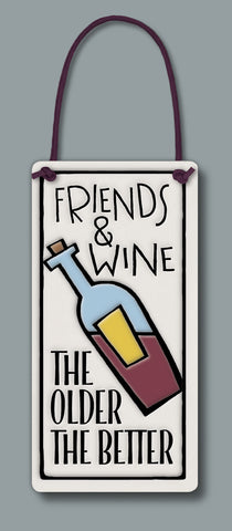 Spooner Creek Wine Tag - Friends & Wine