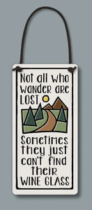 Spooner Creek Wine Tag - Not all Who Wander