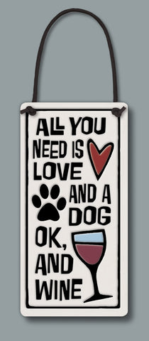 Spooner Creek Wine Tag - Love/Dog/Wine
