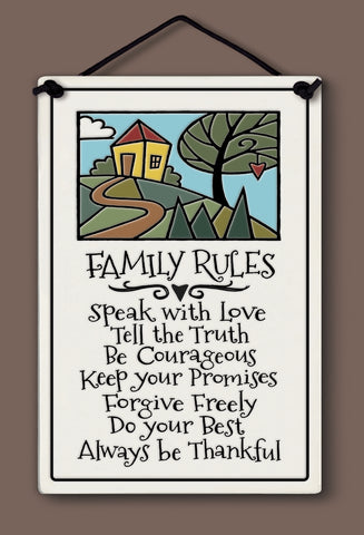 Spooner Creek Large Rectangle - Family Rules